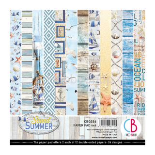 SOUND OF SUMMER - sada 24ks scrapbook papierov 6x6inch