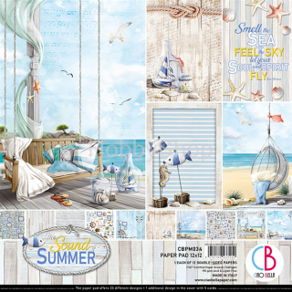 SOUND OF SUMMER - sada 12ks scrapbook papierov 12x12 inch