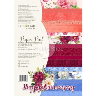 HAPPY ANNIVERSARY - sada scrapbook papierov 16+1ks_A4