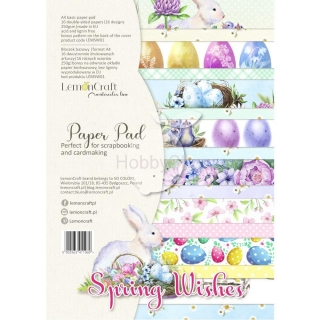 SPRING WISHES - sada scrapbook papierov_16+1ks_A4