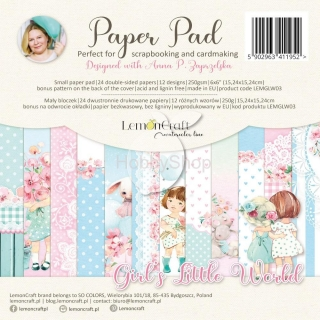 GIRL'S LITTLE WORLD - sada scrapbook papierov_24ks_6x6inch