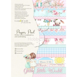 GIRL'S LITTLE WORLD - sada scrapbook papierov_16+1ks_A4