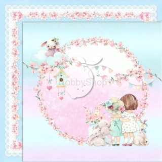 GIRL'S LITTLE WORLD 03 scrapbook papier 12x12inch