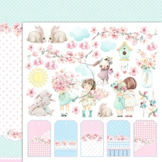 GIRL'S LITTLE WORLD 04 scrapbook papier 12x12inch