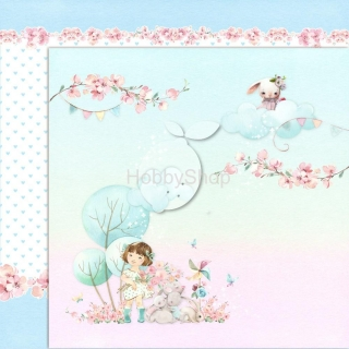GIRL'S LITTLE WORLD 05 scrapbook papier 12x12inch