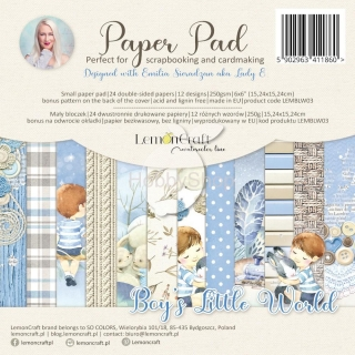 BOY'S LITTLE WORLD - sada scrapbook papierov_24ks_6x6inch