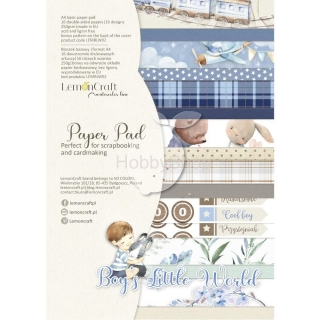 BOY'S LITTLE WORLD - sada scrapbook papierov_16+1ks_A4