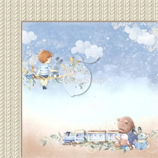 BOY'S LITTLE WORLD 02 scrapbook papier 12x12inch