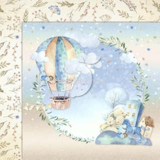 BOY'S LITTLE WORLD 03 scrapbook papier 12x12inch