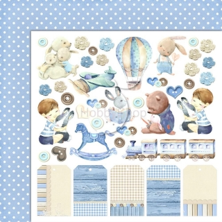 BOY'S LITTLE WORLD 04 scrapbook papier 12x12inch