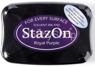 "StazOn Solvent Ink pad_ ""Royal purple"""
