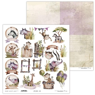 Little Safari 10 scrapbook papier 12x12 inch