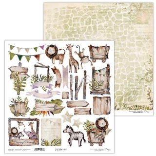 Little Safari 07 scrapbook papier 12x12 inch