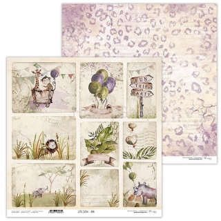 Little Safari 04 scrapbook papier 12x12 inch