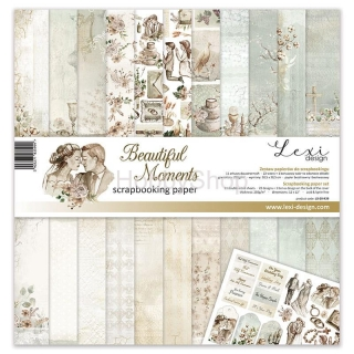 Beautiful Moments - sada scrapbookových  papierov 12x12 inch