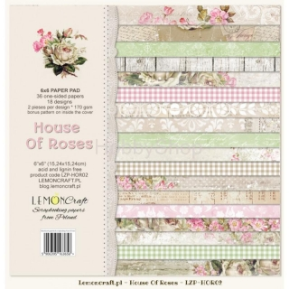 House of Roses - sada scrapbook papierov_18ks_ 6x6 inch