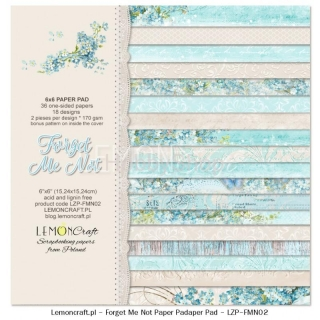 Forget me not - sada scrapbook papierov_18ks_ 6x6 inch