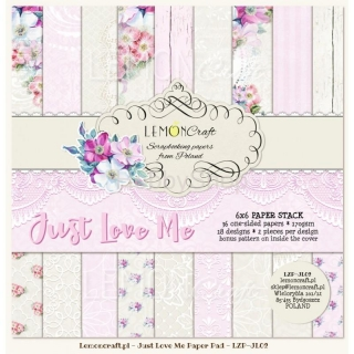 Just Love Me - sada scrapbook papierov_18ks_ 6x6 inch