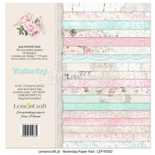 Yesterday - sada scrapbook papierov_18ks_ 6x6 inch