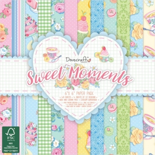 Sweet Moments - sada scrapbook papierov 12ks_6x6 inch