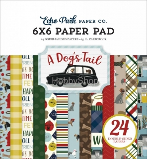 A Dog's Tail - Echo Park - sada scrapbook papierov  6x6 inch