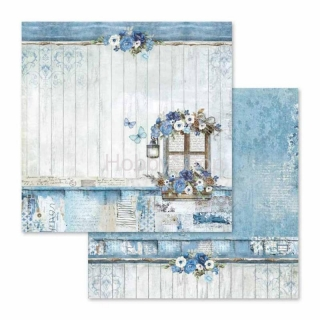 Blue Land - okno / scrapbook papier 12x12 inch