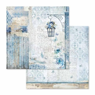 Blue Land - lampa / scrapbook papier 12x12 inch