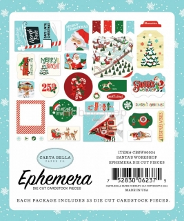 Santa´s Workshop - Carta Bella - Ephemera papierové výrezy_33ks