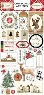 Christmas - Carta Bella - chipboards Accents  / 28 ks