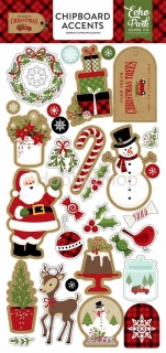 Celebrate Christmas - Echo Park - chipboards Accents  / 28 ks