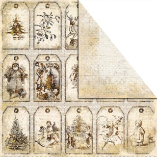 Old - Fashioned Christmas - CRACKER  scrapbook papier 12x12 inch