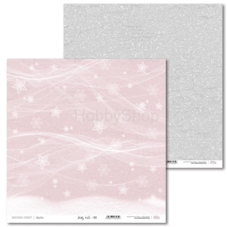 Shabby Winter -03 scrapbook papier 12x12 inch
