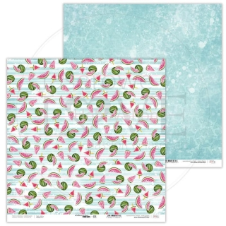 Watermelon Friends 03 scrapbook papier 12x12 inch