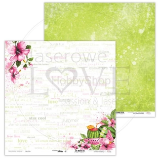 Watermelon Summer 01 scrapbook papier 12x12 inch
