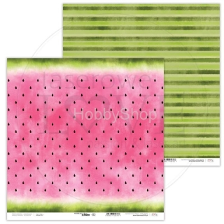 Watermelon Summer 02 scrapbook papier 12x12 inch
