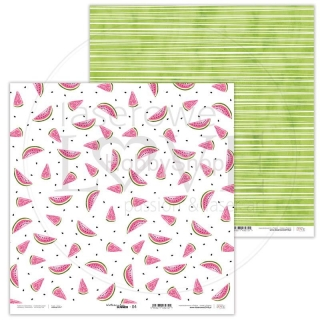 Watermelon Summer 04 scrapbook papier 12x12 inch
