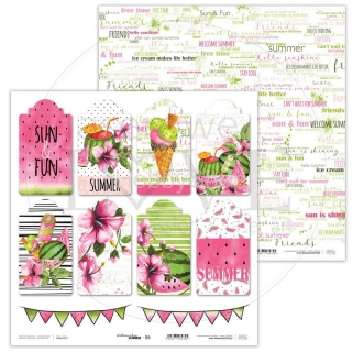 Watermelon Summer 06 scrapbook papier 12x12 inch