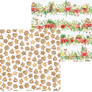 CHRISTMAS TREATS 02 - scrapbook papier 12x12inch
