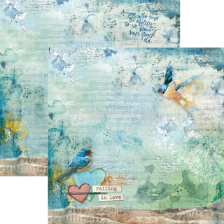 SOUND OF SPRING 034 - scrapbook papier 12x12inch