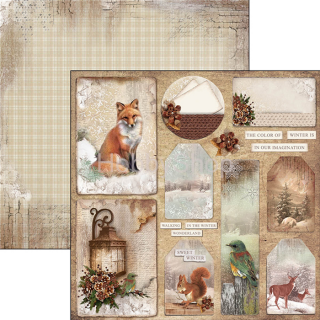 SOUND OF WINTER 058 - scrapbook papier 12x12inch