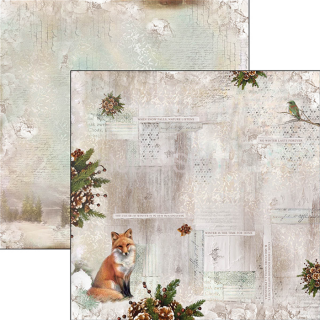 SOUND OF WINTER 055 - scrapbook papier 12x12inch