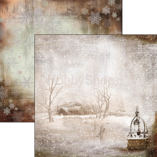 SOUND OF WINTER 057 - scrapbook papier 12x12inch