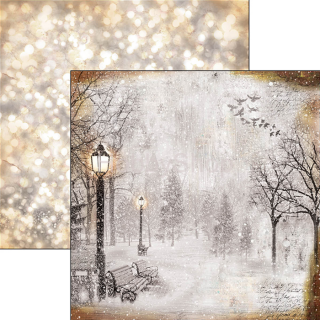 Snow and the City 051 - scrapbook papier 12x12inch