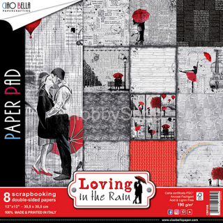 LOVING IN THE RAIN - sada 8ks scrapbook papierov 12x12 inch