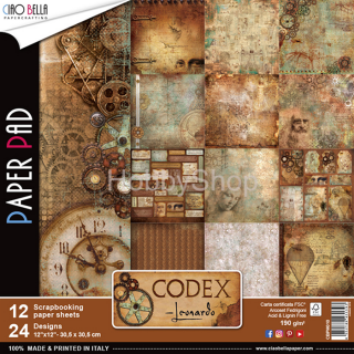 CODEX LEONARDO - sada 12ks scrapbook papierov 12x12 inch