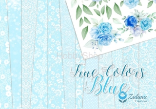 Zulana Creations True Colors Blue - sada scrapbook papierov_6+1ks_12x12inch