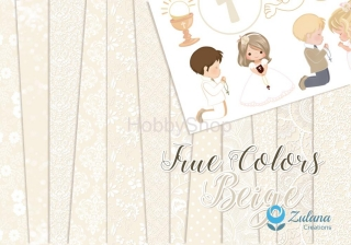 Zulana Creations True Colors Beige - sada scrapbook papierov_6+1ks_12x12inch