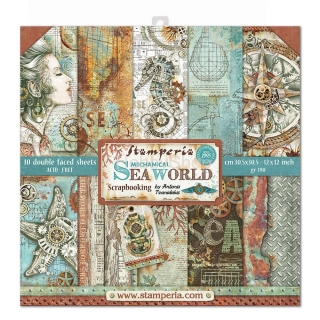 SEA WORLD - sada scrapbook papierov 12x12 inch