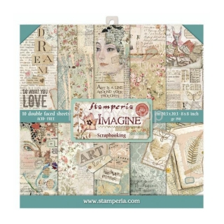 IMAGINE - sada scrapbook papierov 8x8 inch