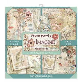 IMAGINE - MAXI sada scrapbook papierov 12x12 inch